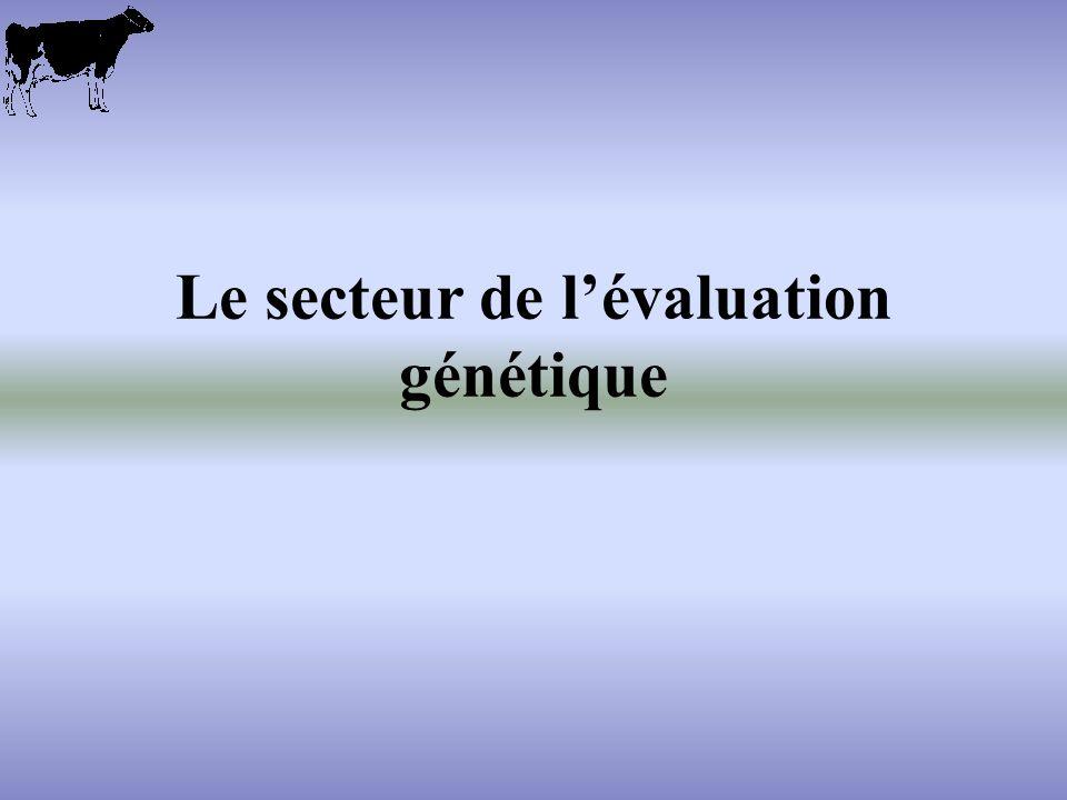 Le secteur de lévaluation génétique