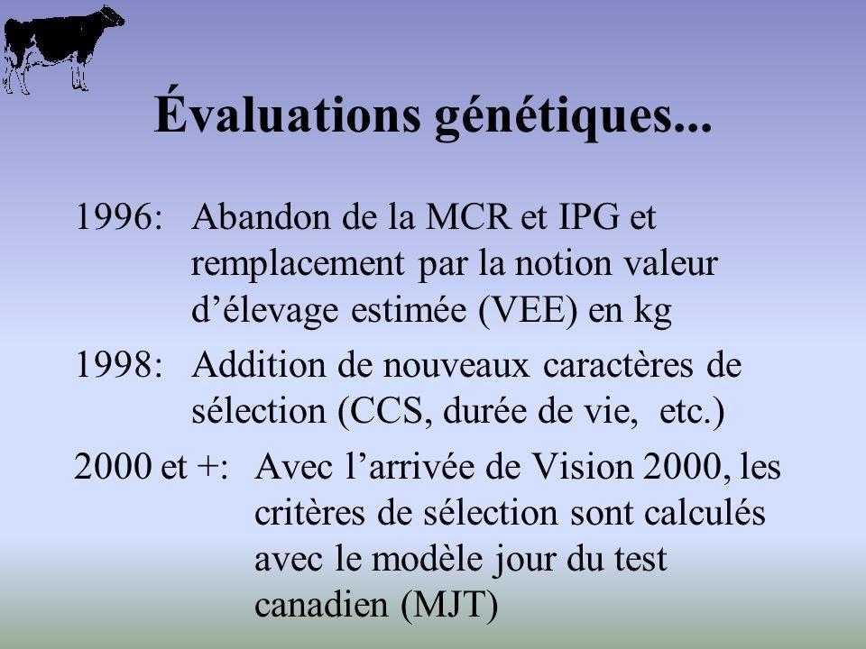 Évaluations génétiques...