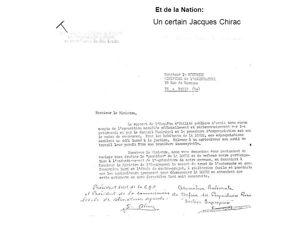 Un certain Jacques Chirac Et de la Nation: