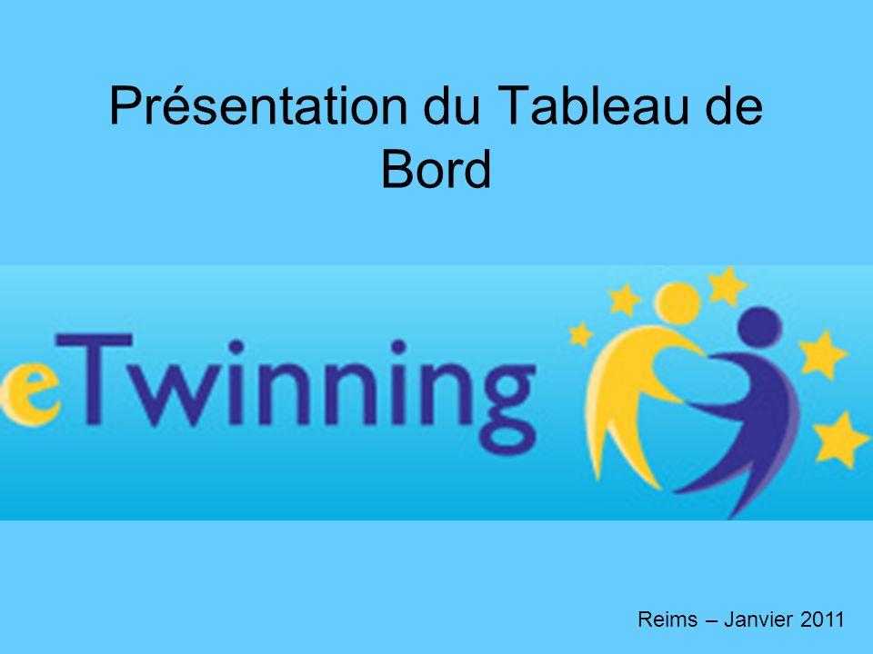 Présentation du Tableau de Bord Reims – Janvier 2011