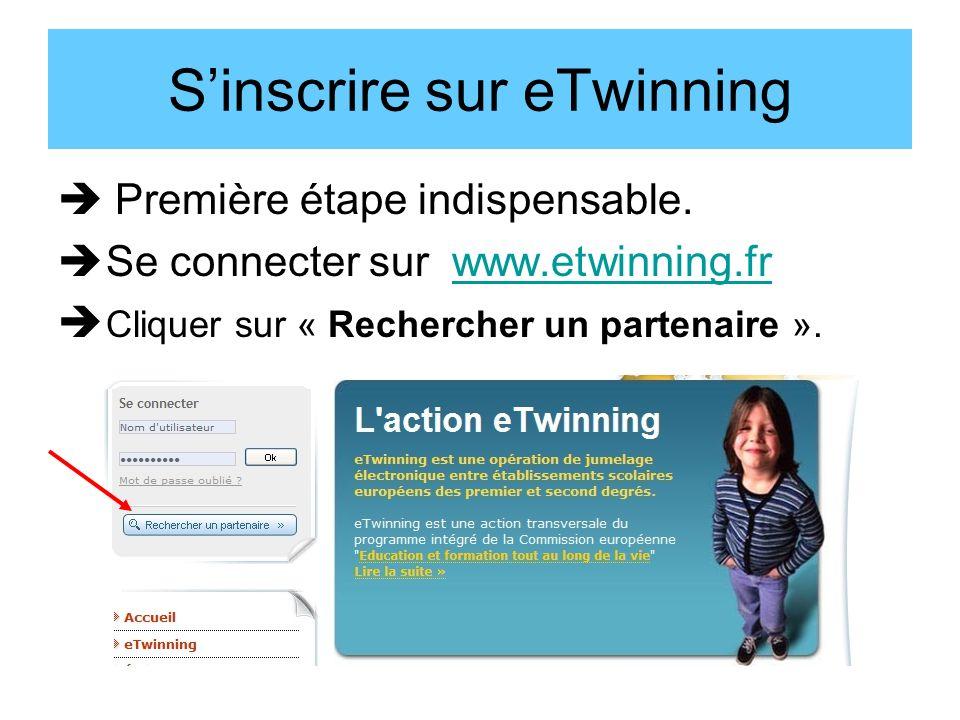 Sinscrire sur eTwinning Première étape indispensable.