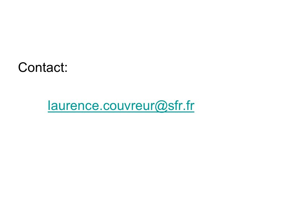 Contact: laurence.couvreur@sfr.fr