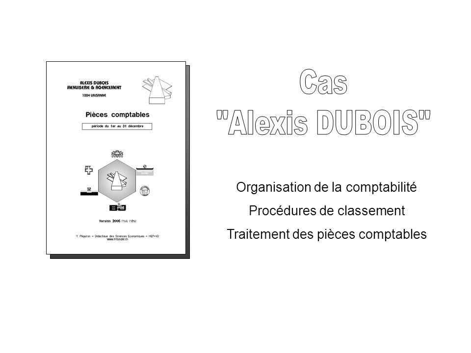 Caractéristiques de l entreprise fictive Raison sociale :ALEXIS DUBOIS Adresse fictive :Ch.