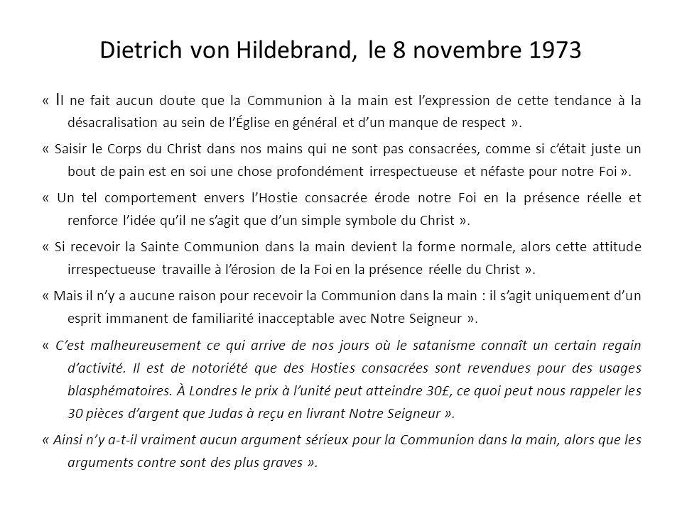Dietrich von Hildebrand D ietrich von Hildebrand, que le Pape Pie XII appelait le docteur de lEglise du XX° siècle, fut lun des plus grands philosophe