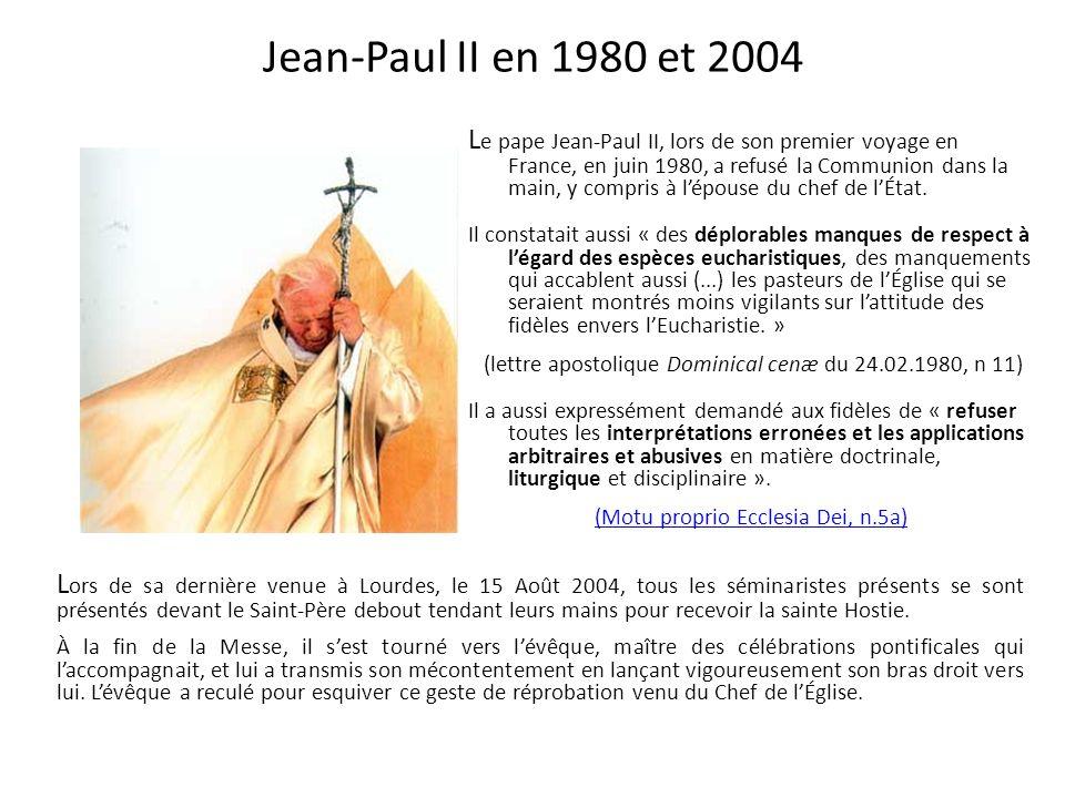 Témoignage dun prêtre de la Beauce en 1974 - 1975 - - - - - - - - - - - - En 1974-75, un prêtre de la Beauce savait quil ne fallait pas donner la Comm
