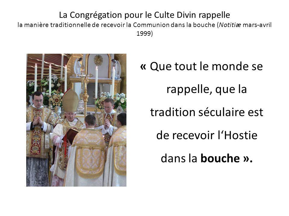 Mgr Juan Laise refuse de donner la Communion dans la main, en Argentine - 1996 L affaire remonte à 1996 lorsque la conférence épiscopale argentine ado