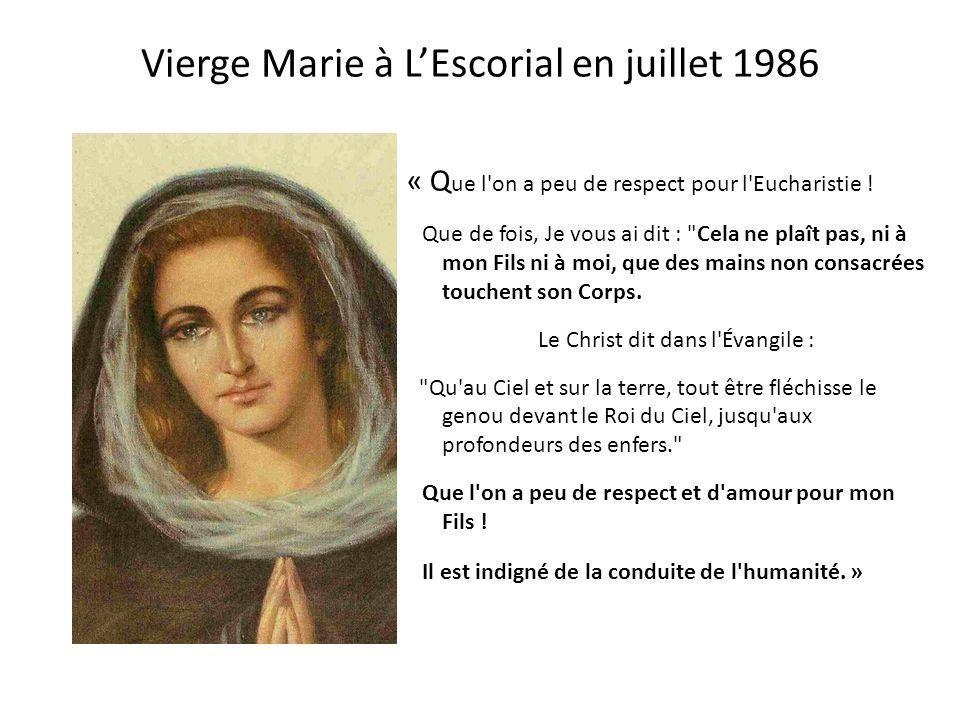 Message de la Vierge Marie au Père Gobbi 1979-1986 L e 14 Juin 1979 :