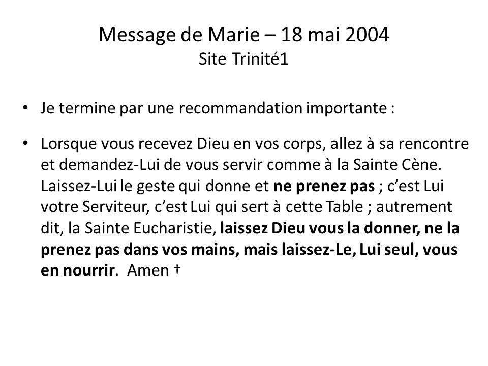 Message de Jésus à Joseph de la paroisse du Père Melvin Doucette le 6 septembre 2008 « Les changements liturgiques sont en train de détruire la Foi de