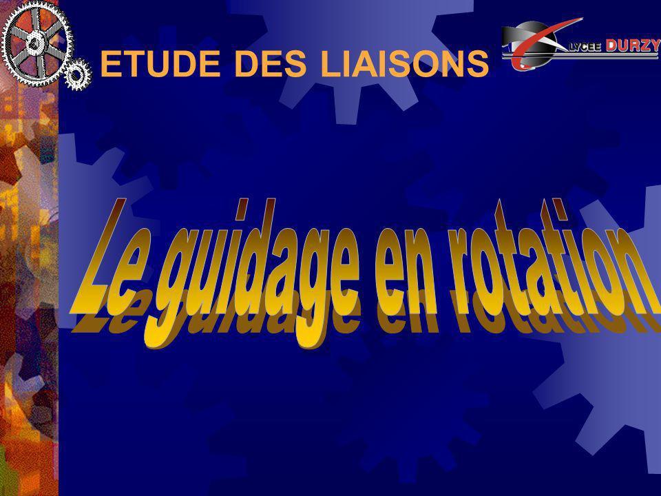 ETUDE DES LIAISONS Guidage en rotation Articulation en chape ou en porte à faux - II Précision du guidage :