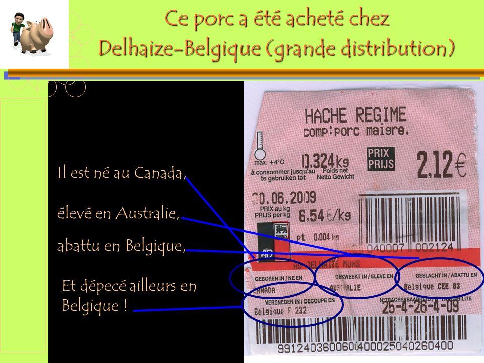 Diaporama PPS réalisé pour http://www.diaporamas-a-la-con.com Ce porc a été acheté chez Delhaize-Belgique (grande distribution) Il est né au Canada, é