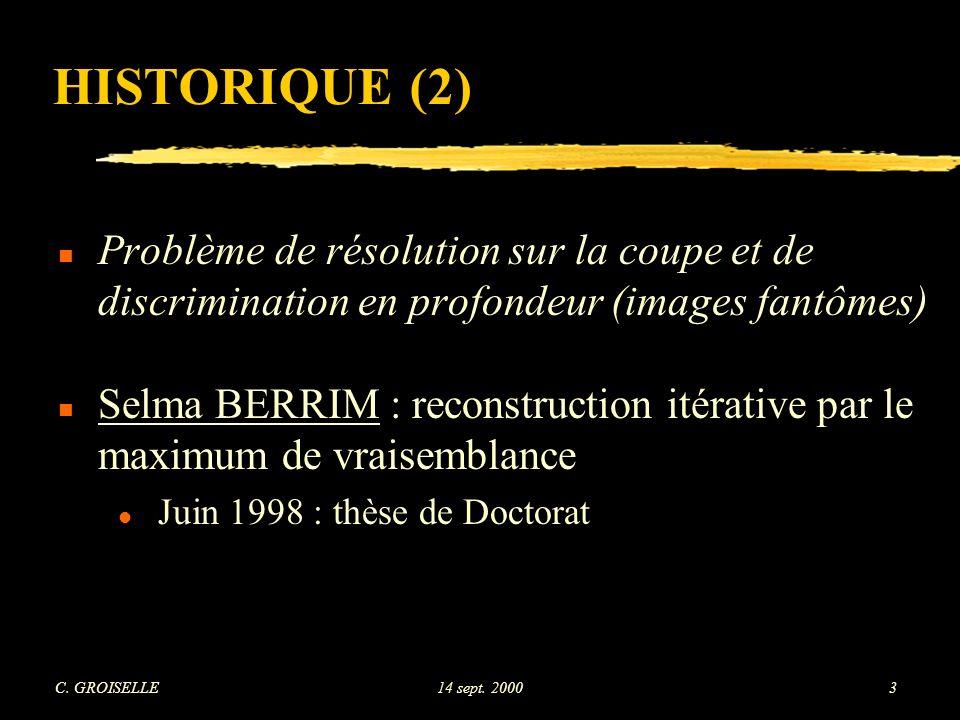 C. GROISELLE14 sept. 200024 MATÉRIEL UTILISÉ