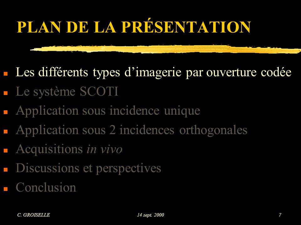 C. GROISELLE14 sept. 200098 Uniformité - coupe n°7 (2 incidences orthogonales)