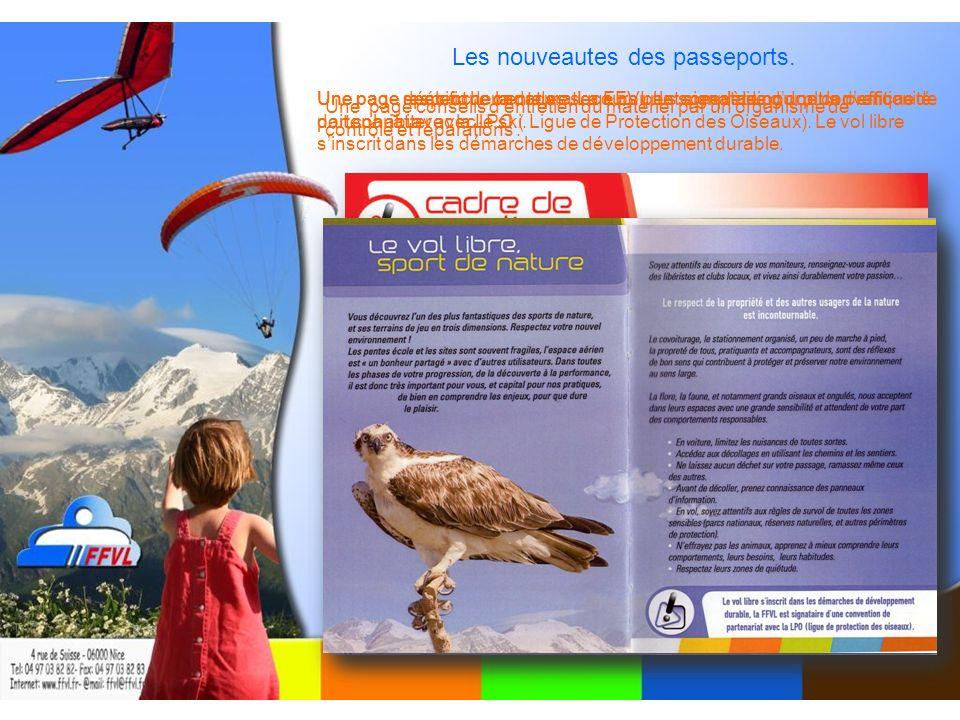 Les nouveautes des passeports.