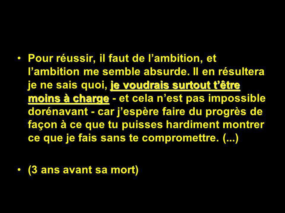 Paris, été 1887 Je me sens triste de ce que même en cas de succès, la peinture ne rapportera pas ce quelle coûte. Jai été touché de ce que tu écris de