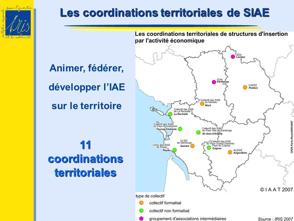 Les coordinations t tt territoriales de SIAE Animer, fédérer, développer lIAE sur le territoire 11 coordinations territoriales