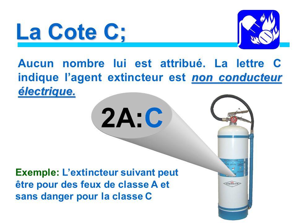 La Cote C; non conducteur électrique.Aucun nombre lui est attribué.