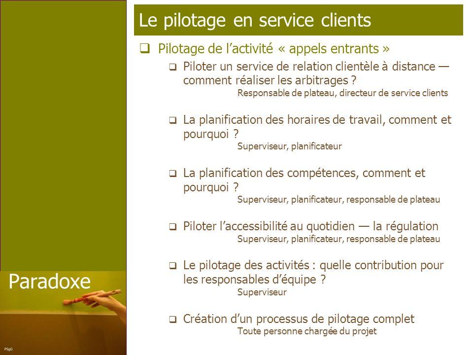 Page 11 T élé p rofil Le pilotage en service clients Pilotage de lactivité « appels entrants » Piloter un service de relation clientèle à distance comment réaliser les arbitrages .
