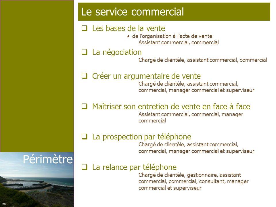 Page 13 T élé p rofil Le service commercial Les bases de la vente de lorganisation à lacte de vente Assistant commercial, commercial La négociation Ch
