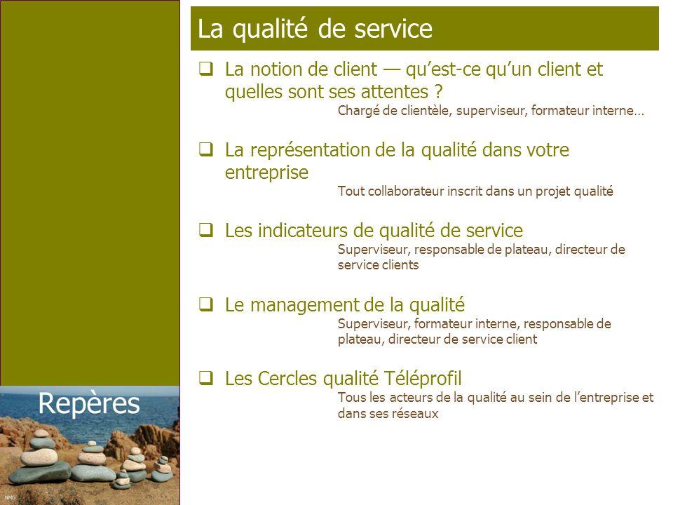 Page 2 T élé p rofil La qualité de service La notion de client quest-ce quun client et quelles sont ses attentes ? Chargé de clientèle, superviseur, f
