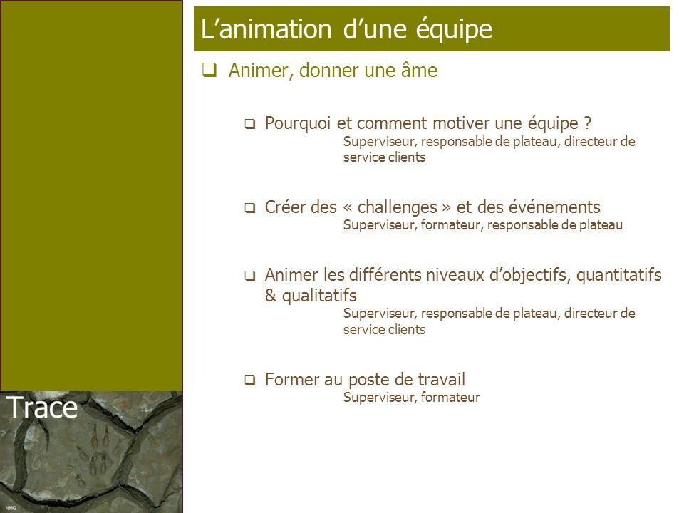 Page 9 T élé p rofil Lanimation dune équipe Animer, donner une âme Pourquoi et comment motiver une équipe ? Superviseur, responsable de plateau, direc