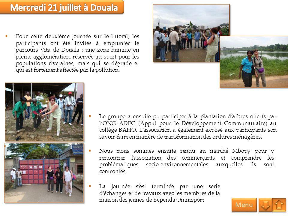 Menu Le groupe a ensuite pu participer à la plantation darbres offerts par lONG ADEC (Appui pour le Développement Communautaire) au collège BAHO. Lass