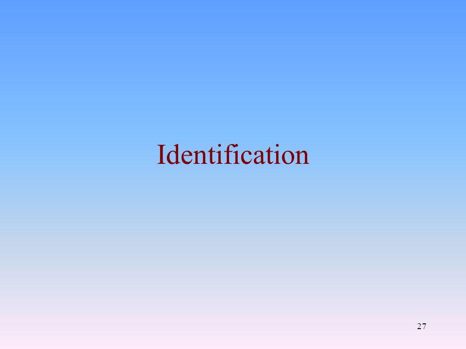 27 Identification