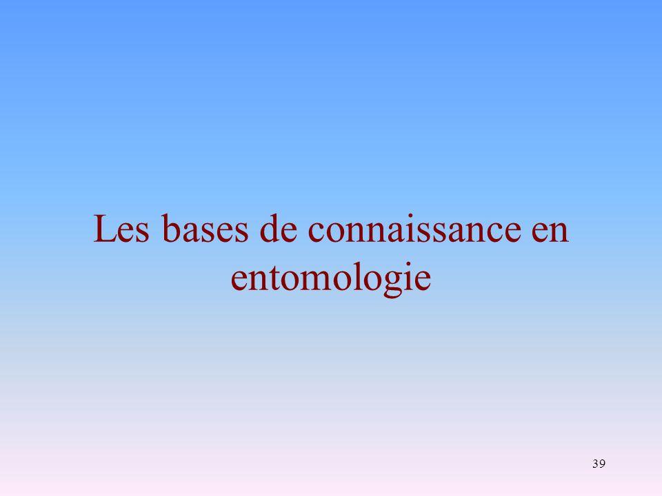 39 Les bases de connaissance en entomologie