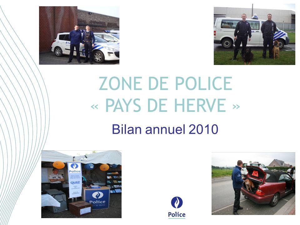 Bilan annuel 2010 ZONE DE POLICE « PAYS DE HERVE »