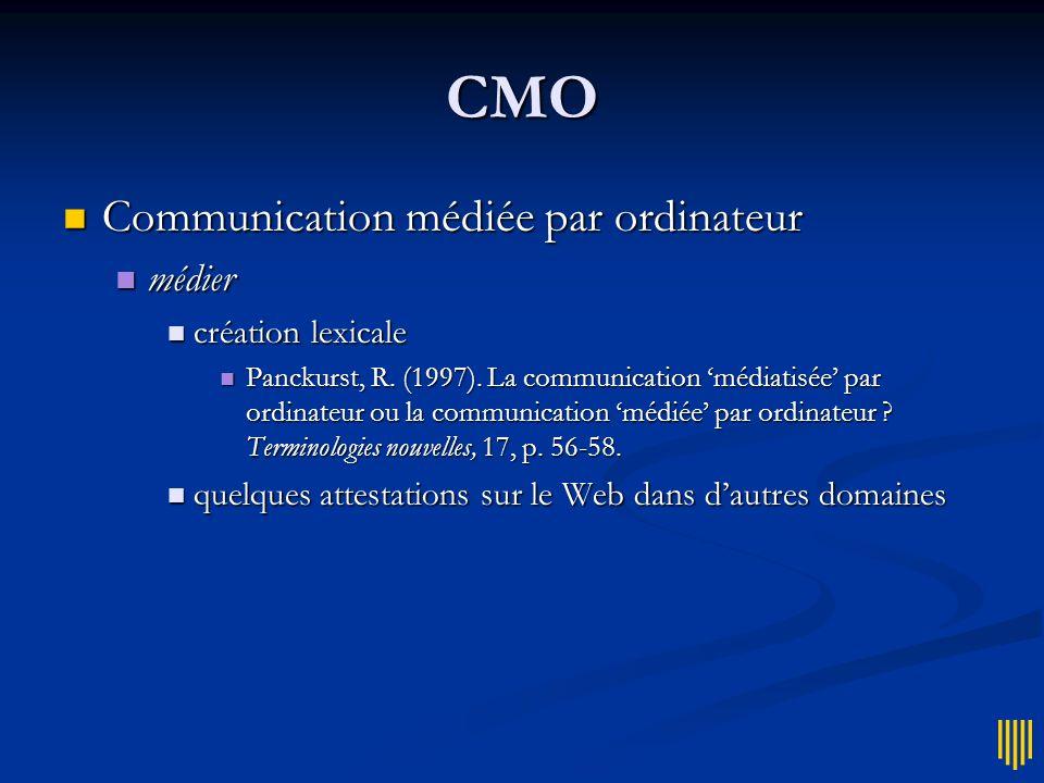 CMO Google (30/05/2004) Google (30/05/2004) Com.médiatisée par ordin.