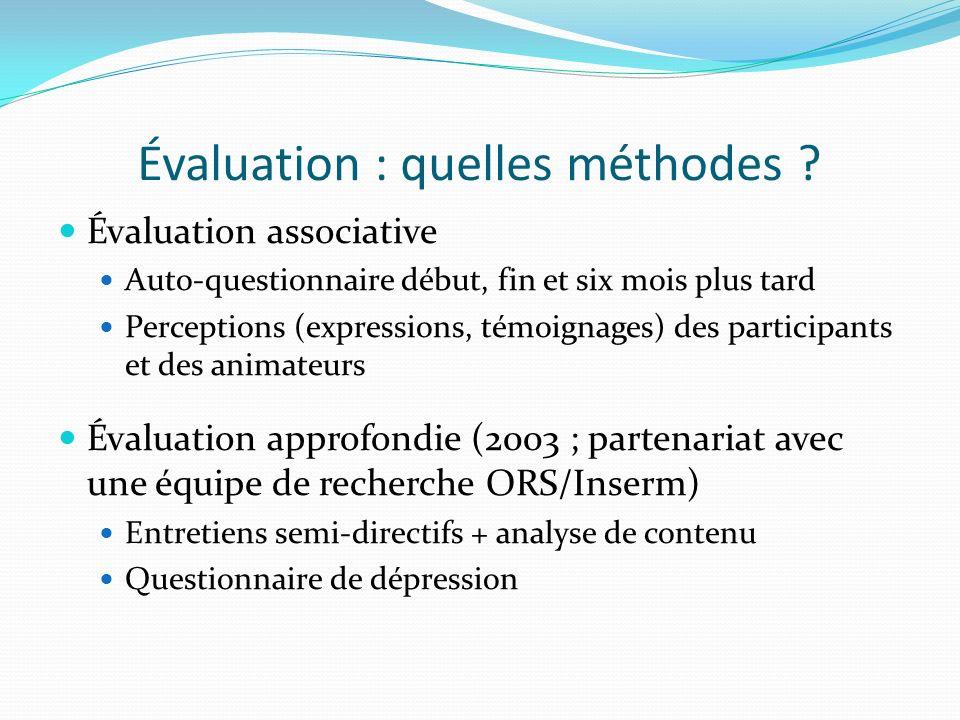 Évaluation : quelles méthodes .