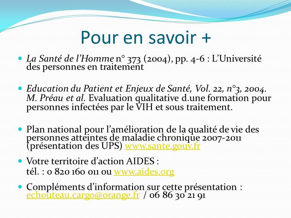 Pour en savoir + La Santé de lHomme n° 373 (2004), pp.