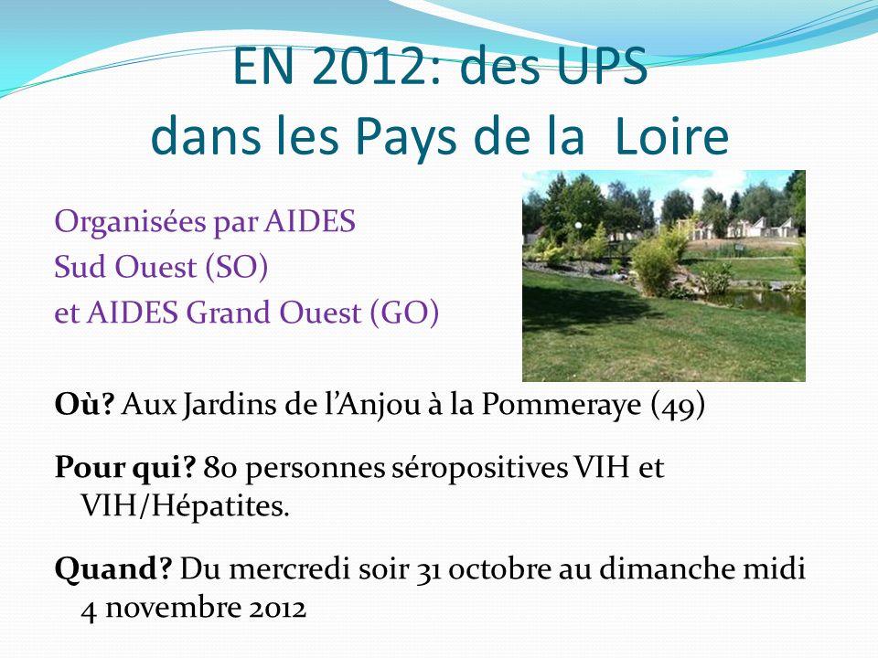 « Construction » des UPS SOGO 2012(organisation) Sur un an (avant/pendant/après).