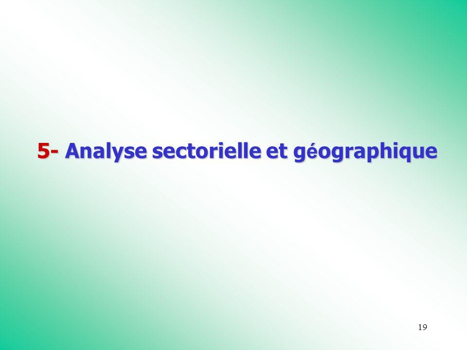 19 5- Analyse sectorielle et g é ographique