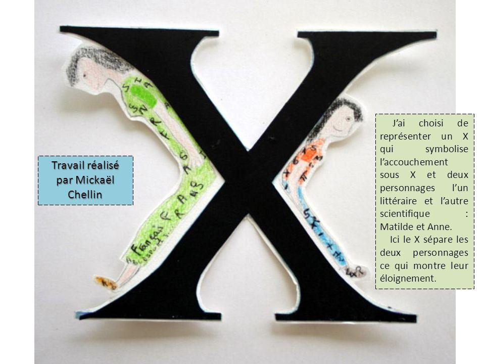 Jai choisi de représenter un X qui symbolise laccouchement sous X et deux personnages lun littéraire et lautre scientifique : Matilde et Anne.