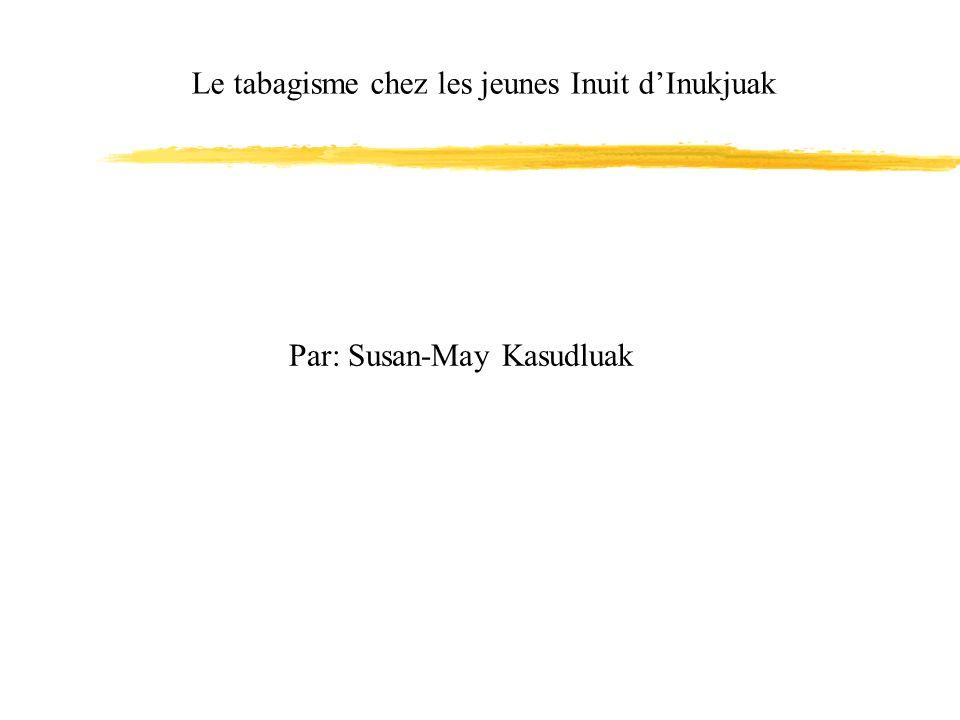 Le tabagisme chez les jeunes Inuit dInukjuak Par: Susan-May Kasudluak