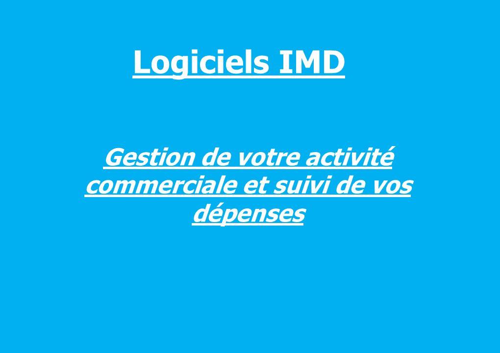 Logiciels IMD Gestion de votre activité commerciale et suivi de vos dépenses