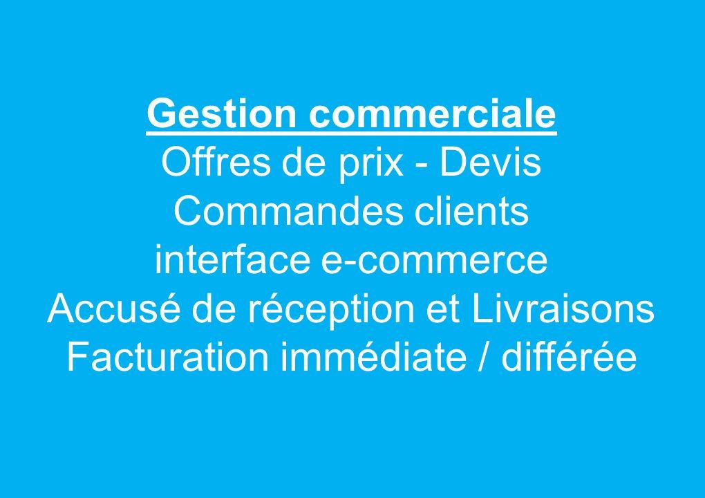 Gestion achats Demandes de prix Demandes dachats Commandes Réceptions Contrôle Factures Stock