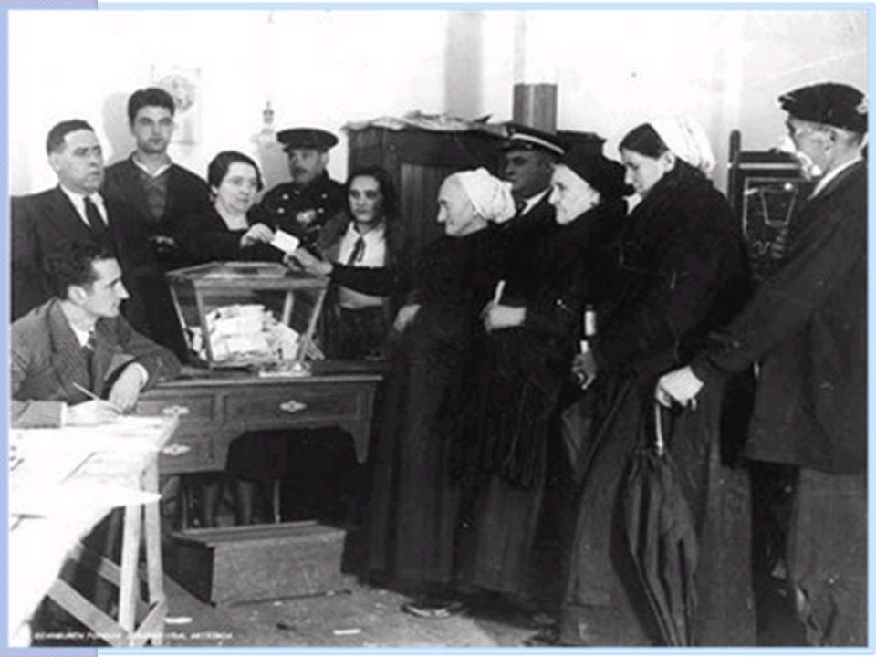 Le vote fémenin Les femmes dans leur ensemble accèdent au droit de vote bien plus tard que les hommes.