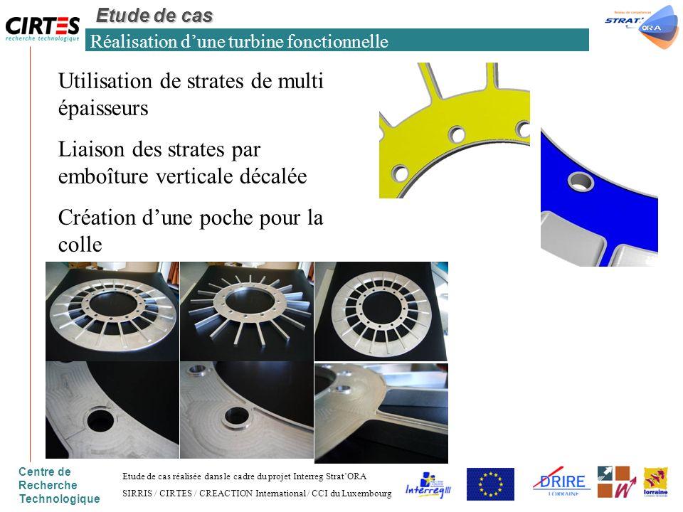 Centre de Recherche Technologique Réalisation dune turbine fonctionnelle Etude de cas Etude de cas réalisée dans le cadre du projet Interreg StratORA