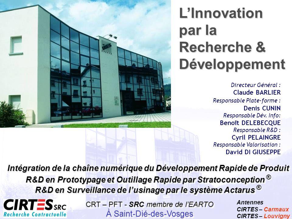 Centre de Recherche Technologique Antennes CIRTES – Carmaux CIRTES – Louvigny Centre Européen de Prototypage Rapide CRT – PFT - SRC membre de lEARTO À