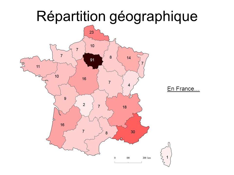 Répartition géographique En France…
