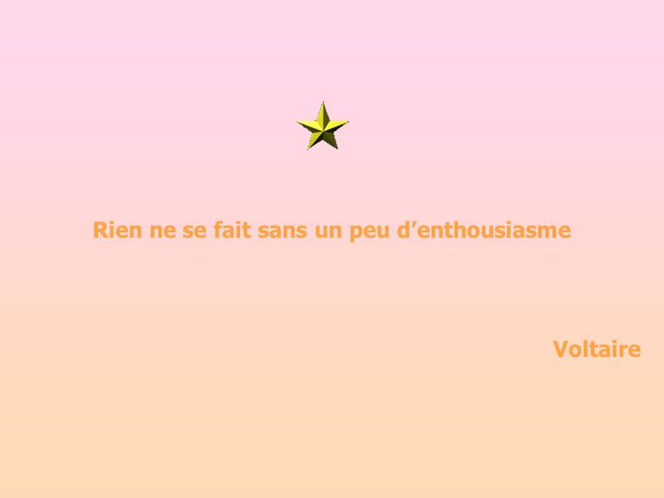 Rien ne se fait sans un peu denthousiasme Voltaire