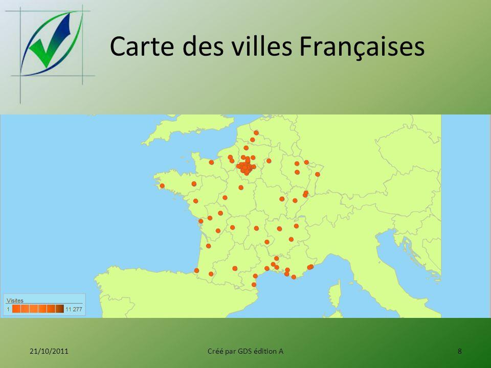 Carte des villes Françaises 21/10/2011Créé par GDS édition A8