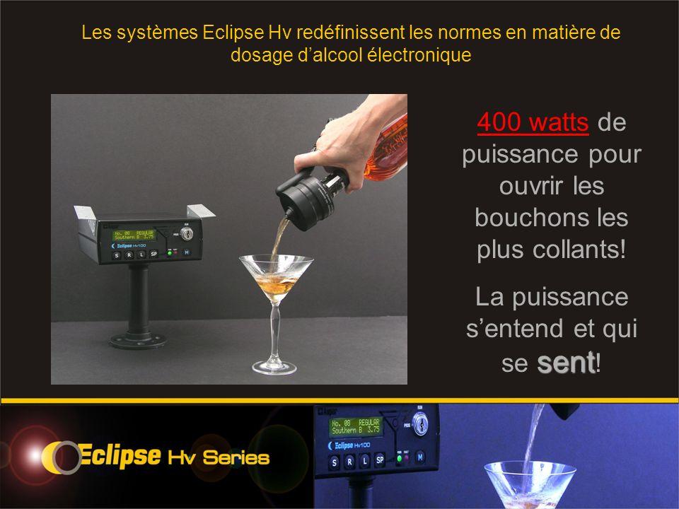 400 watts de puissance pour ouvrir les bouchons les plus collants.