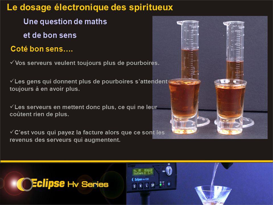 Le dosage électronique des spiritueux Une question de maths et de bon sens Coté bon sens….