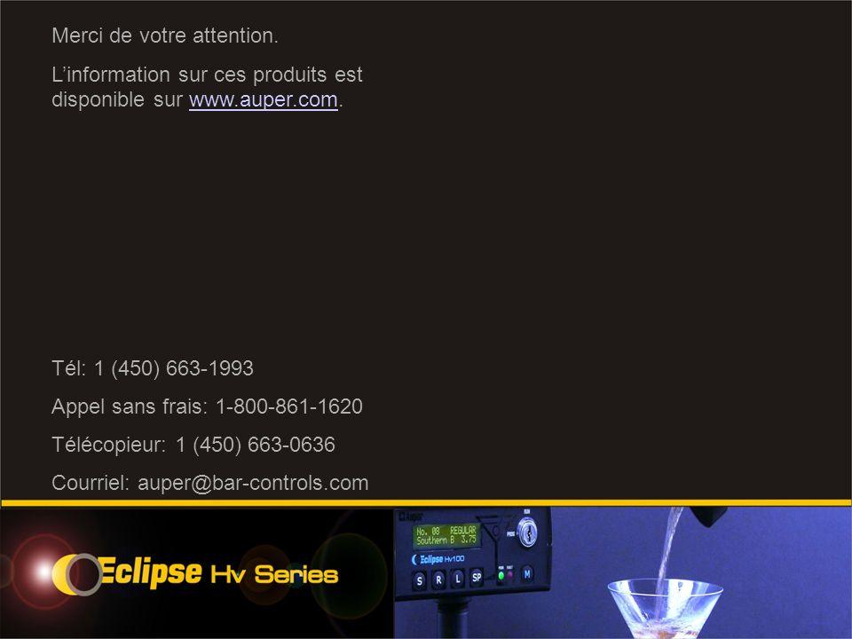 Merci de votre attention. Linformation sur ces produits est disponible sur www.auper.com.www.auper.com Tél: 1 (450) 663-1993 Appel sans frais: 1-800-8