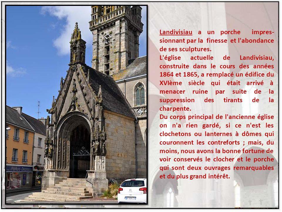 Au-dessus de l autel du transept nord, la statue en vénération de Notre-Dame de Berven est abritée dans une niche à volets.