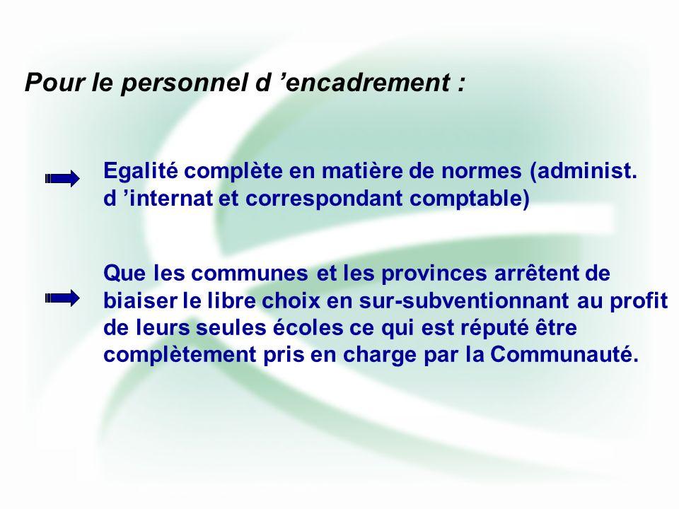 Egalité complète en matière de normes (administ.