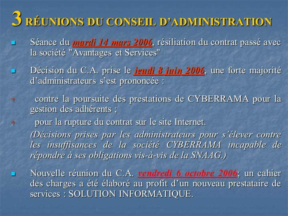 RAPPORT DU COMMISSAIRE AUX COMPTES – ANNEE 2006 par Monsieur B BONHOMME
