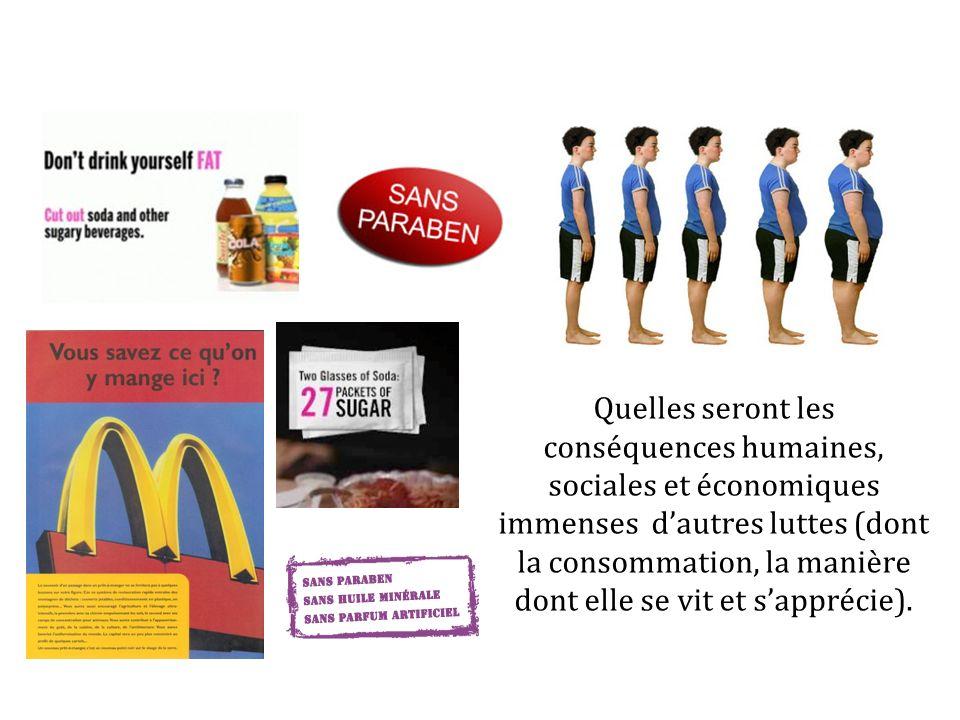 Quelles seront les conséquences humaines, sociales et économiques immenses dautres luttes (dont la consommation, la manière dont elle se vit et sappré
